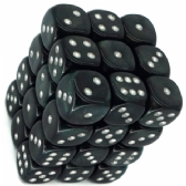 Smoke & Silver Borealis 12mm D6 Dice Block